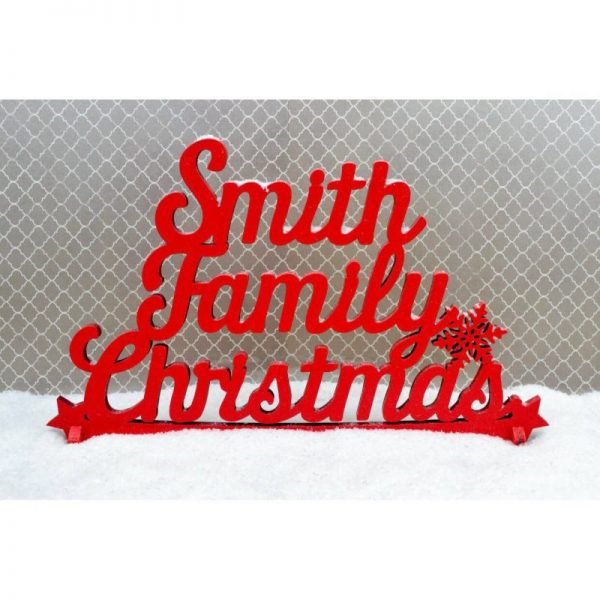 Family Christmas Standing Sign