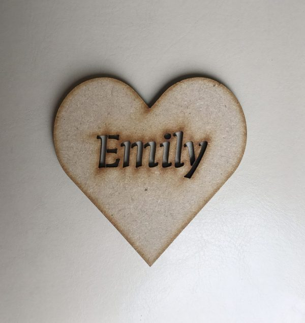Heart Place Name Cutout