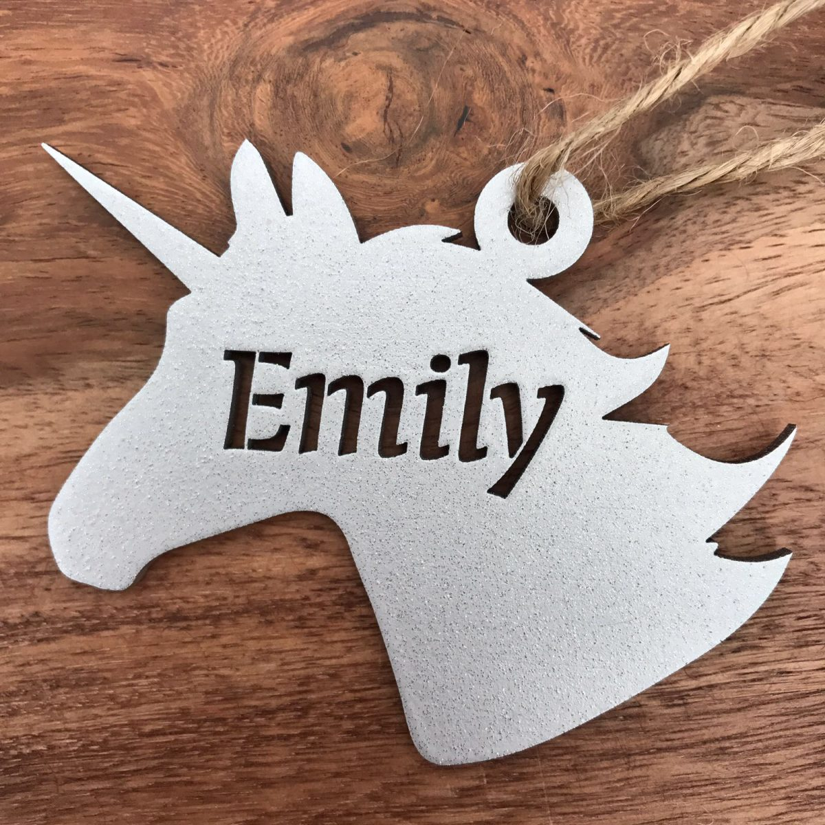 Wooden Unicorn Place Name / Gift Tag