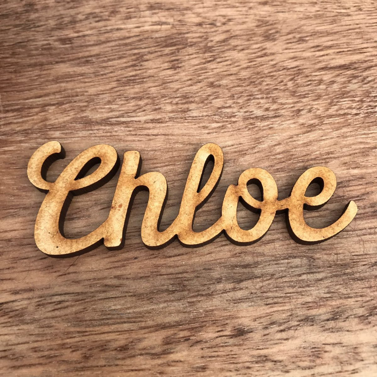 Large Wooden Place Name