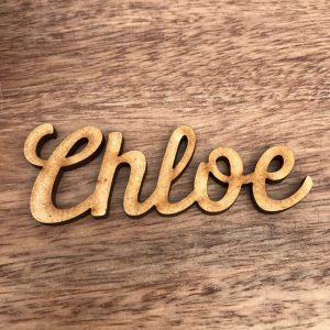 Script Large Wooden Place Name