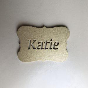Plaque Place Name Cutout