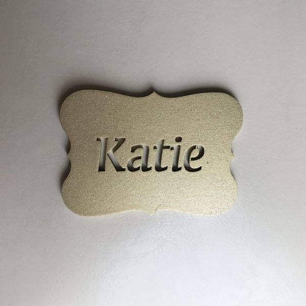 Plaque Place Name Cutout