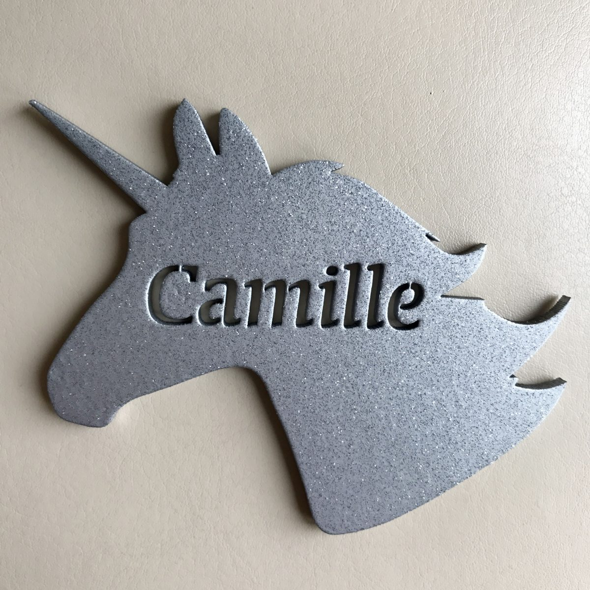 Unicorn Place Name Cutout