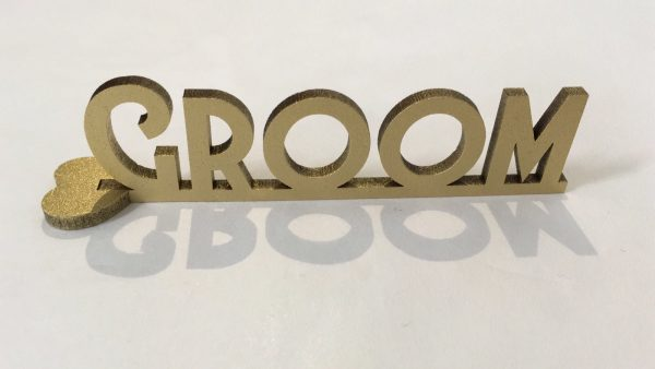 Standing Art Deco Wooden Place Name
