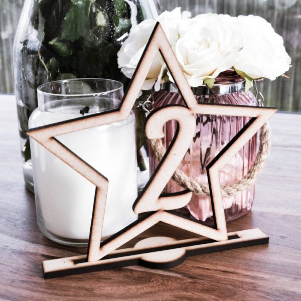 Art Deco Star Table Number