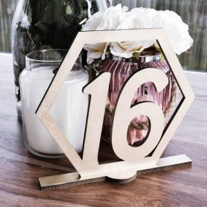 Art Deco Hexagon Table Number