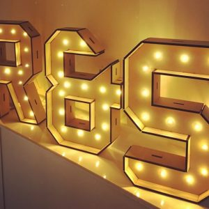 Large Standing Light Up Letters
