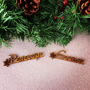 Snowflake Fairytale Wooden Place Name