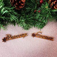 Snowflake Fairytale Wooden Name
