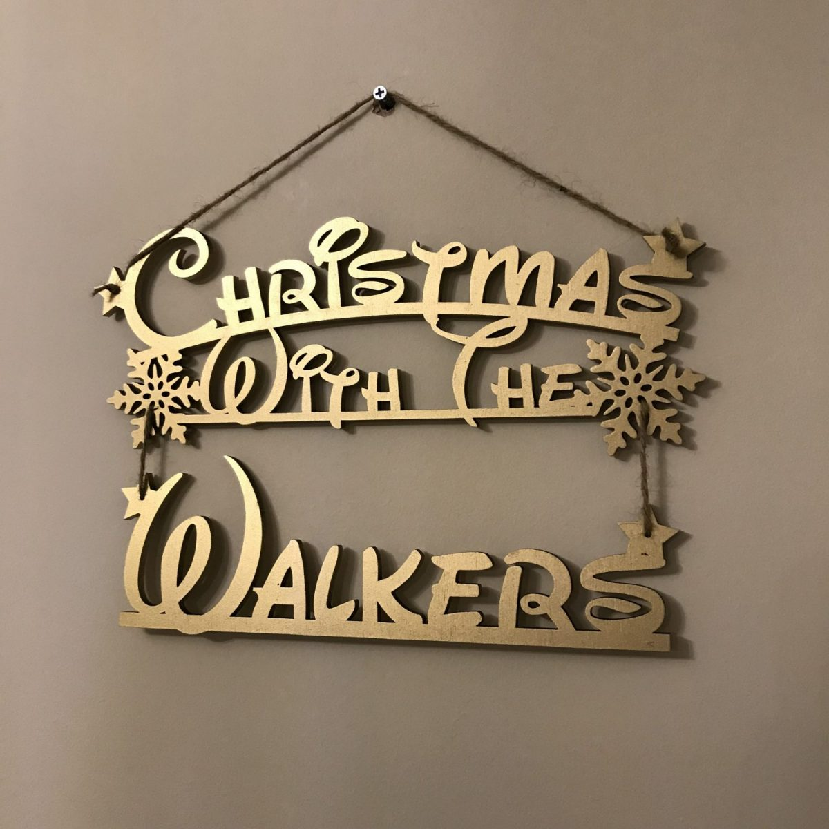 fairytale christmas with hanging sign