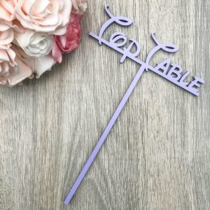 Fairytale Table Name / Numbers on Stake