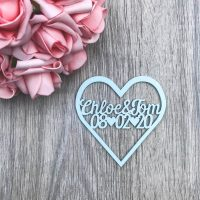 Heart Style Save the Date Magnet