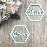 Hexagon Style Wooden Names