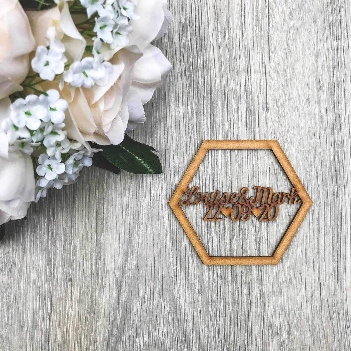 Hexagon Save the Date Magnet