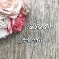 Romantic Script Style Wooden Names