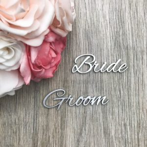 Romantic Script Wooden Place Name