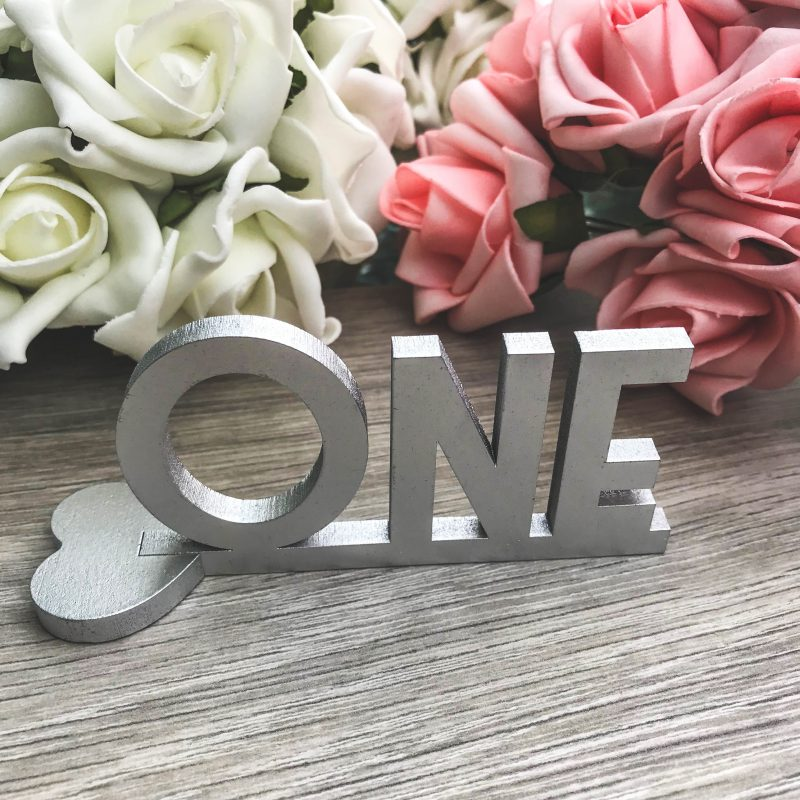 Art Deco Standing Table Name Numbers Confetti Print