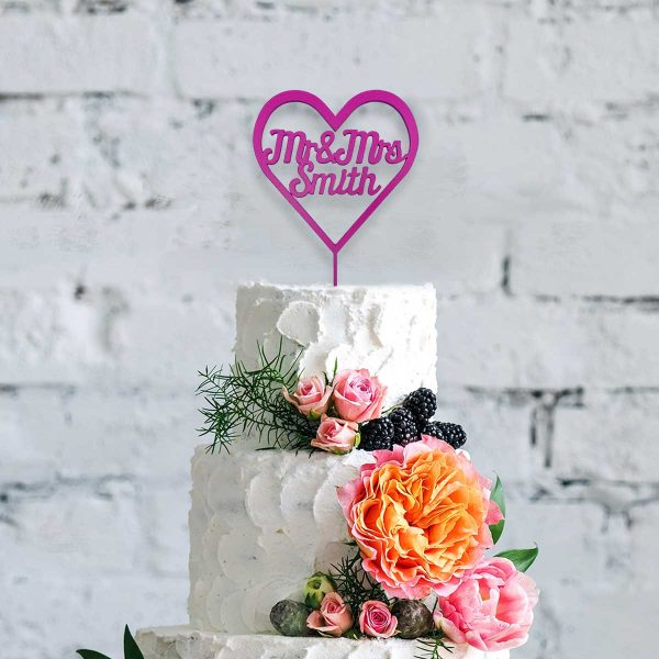Heart Style – Names, Table Name / Numbers & Cake Topper Wedding Bundle