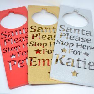 Santa Stop Here Door Sign