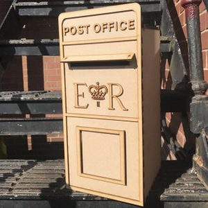 Flat Pack Personalised Wooden Post Box
