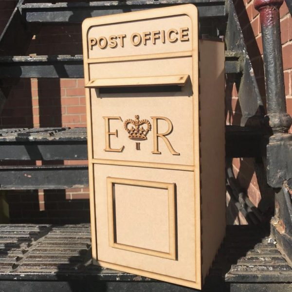 Assembled Wooden Post Box