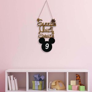 Sleeps Until Santa Chalkboard Hanger