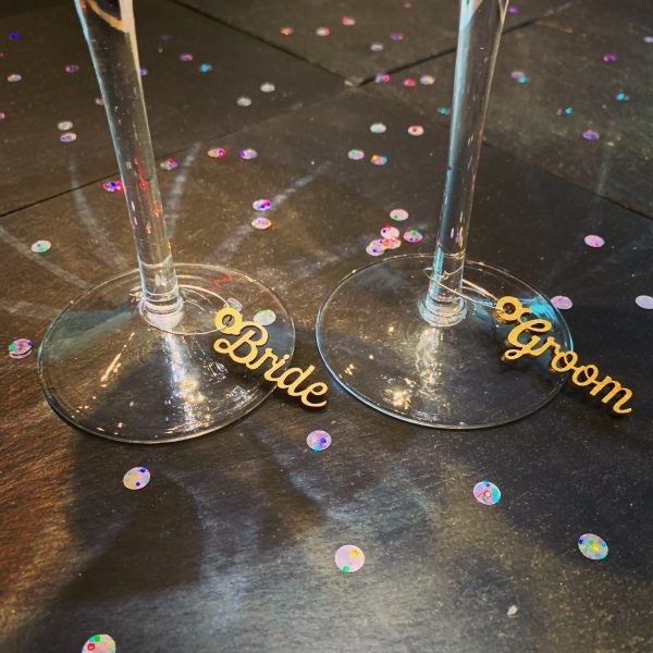 Wine Glass Circle Charm