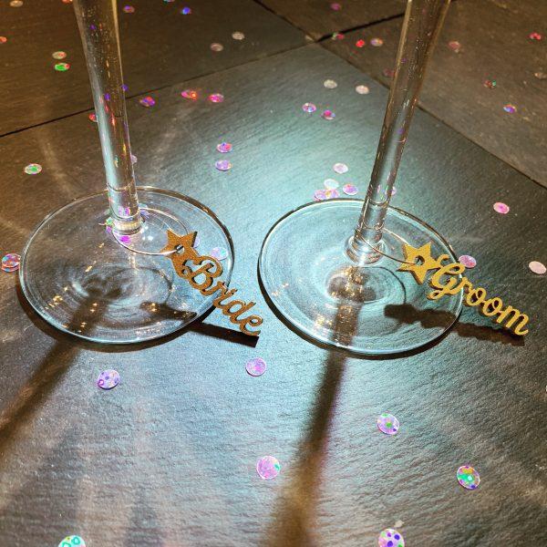 Wine Glass Star Charm
