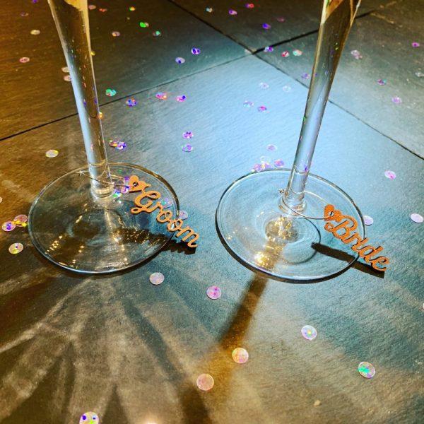 Wine Glass Heart Charm