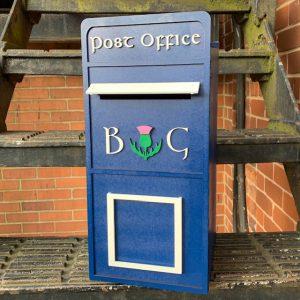 Assembled Scottish Wooden Post Box