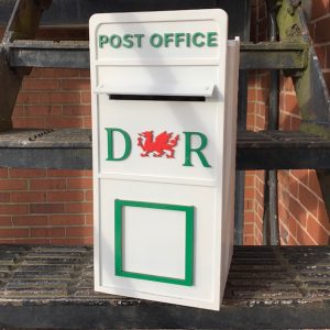 Assembled Welsh Wooden Post Box
