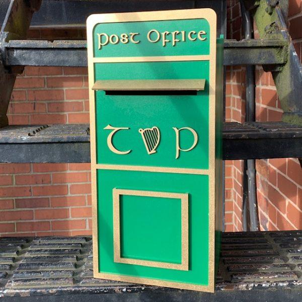 Assembled Irish Wooden Post Box