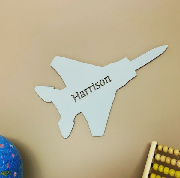 Large Fighter Jet Personalised Name Sign