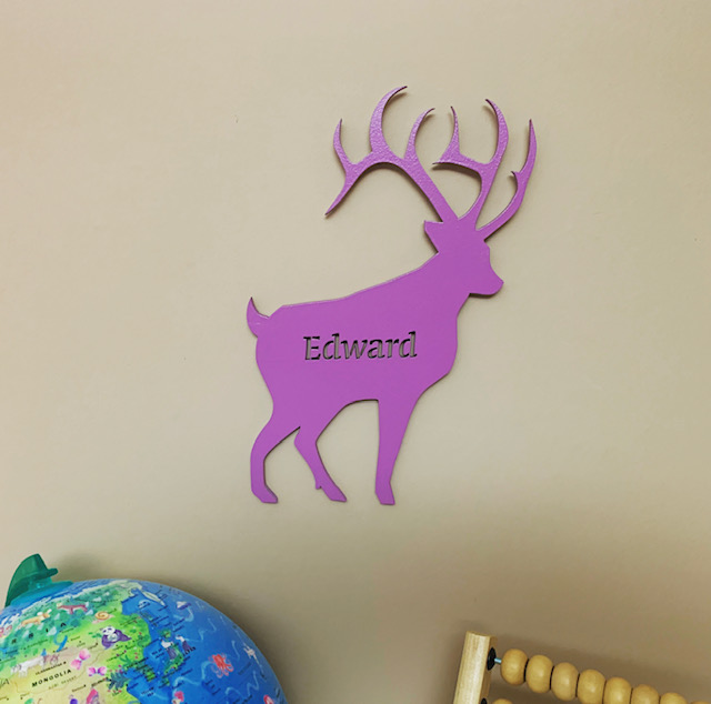 Large Stag Personalised Name Sign
