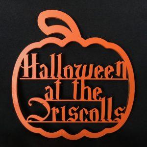 Halloween Pumpkin Hanging Family Sign
