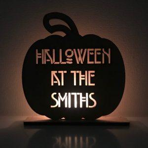 Halloween Pumpkin Family Sign