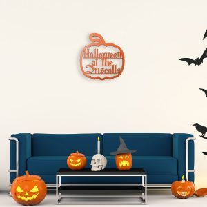 Halloween Pumpkin Hanging Family Sign