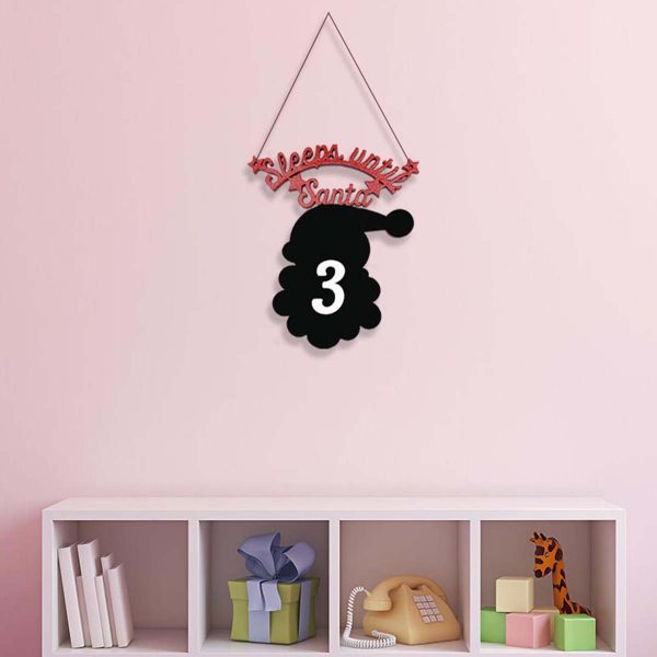 Sleeps Until Santa Chalkboard St. Nic Hanger