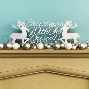 Reindeer Christmas With.. Standing Sign
