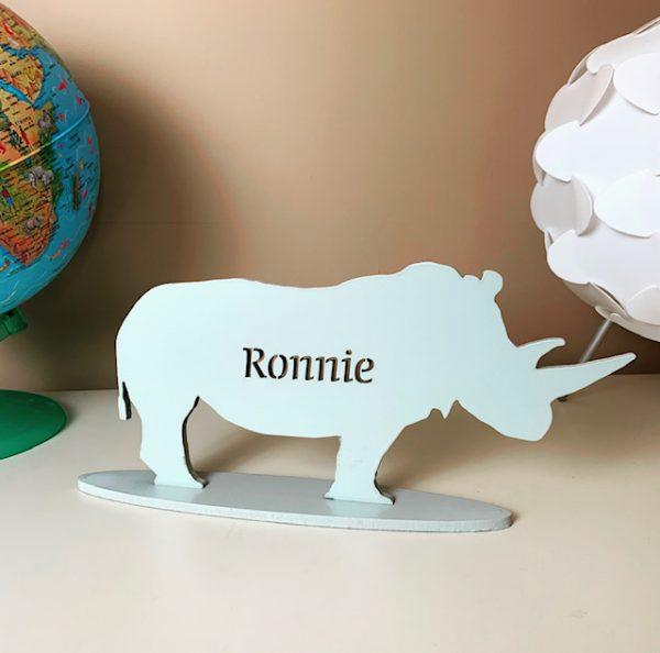 Standing Personalised Rhino