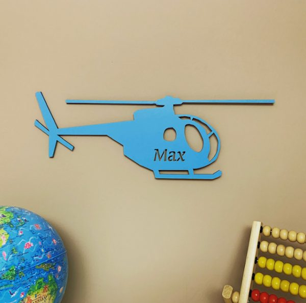 Large Helicopter Personalised Name Sign