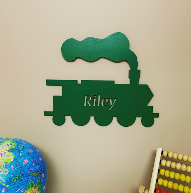 Large Steam Train Personalised Name Sign