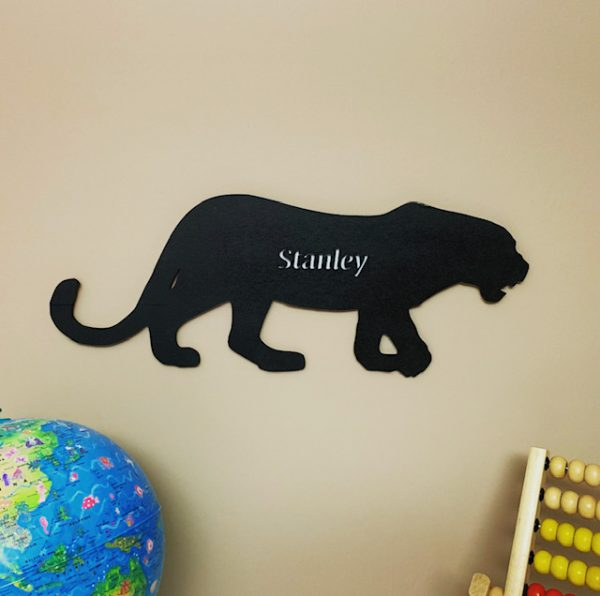 Large Leopard Personalised Name Sign