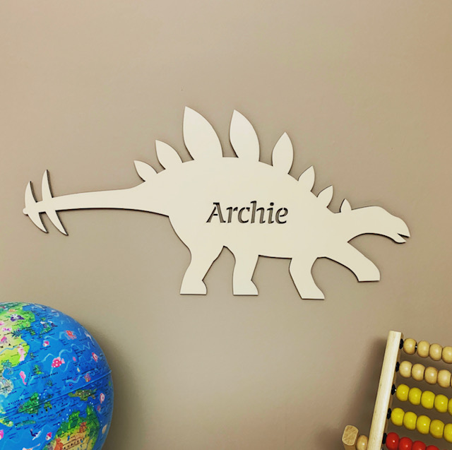 Large Stegosaurus Personalised Name Sign
