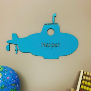 Large Submarine Personalised Name Sign