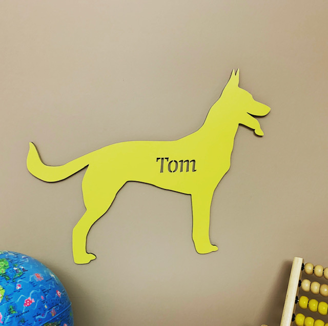Large Dog Personalised Name Sign