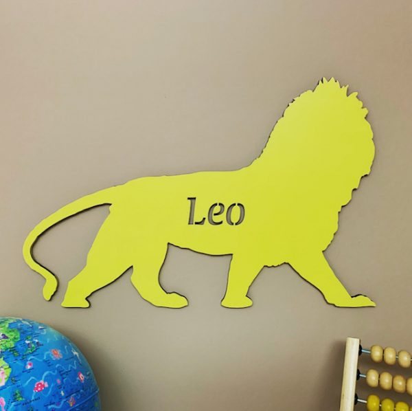 Large Lion Personalised Name Sign