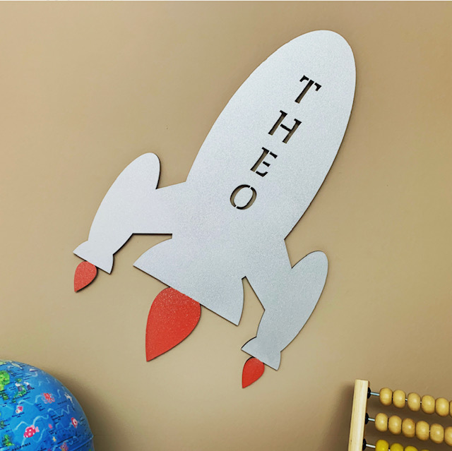 Large Rocket Personalised Name Sign