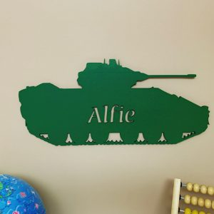 Large Tank Personalised Name Sign
